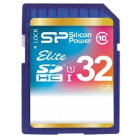Silicon power ELITE SDHC UHS Class 1 Class 10 32GB