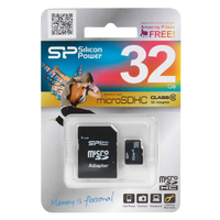 Silicon Power micro SDHC Card 32GB Class 10 + SD adapter