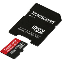 Transcend microSDHC Class 10 Premium UHS-I 400x with adapter 32GB