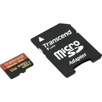 Transcend microSDHC Class 10 UHS-I 600x with SD Adapter 32GB
